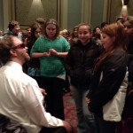 Dan speaking with students at Appleton Wisconsin